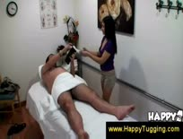 Oriental masseuse makes dick erect